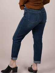 Dark Denim Cropped Skinnies Canterbury Jeans Back