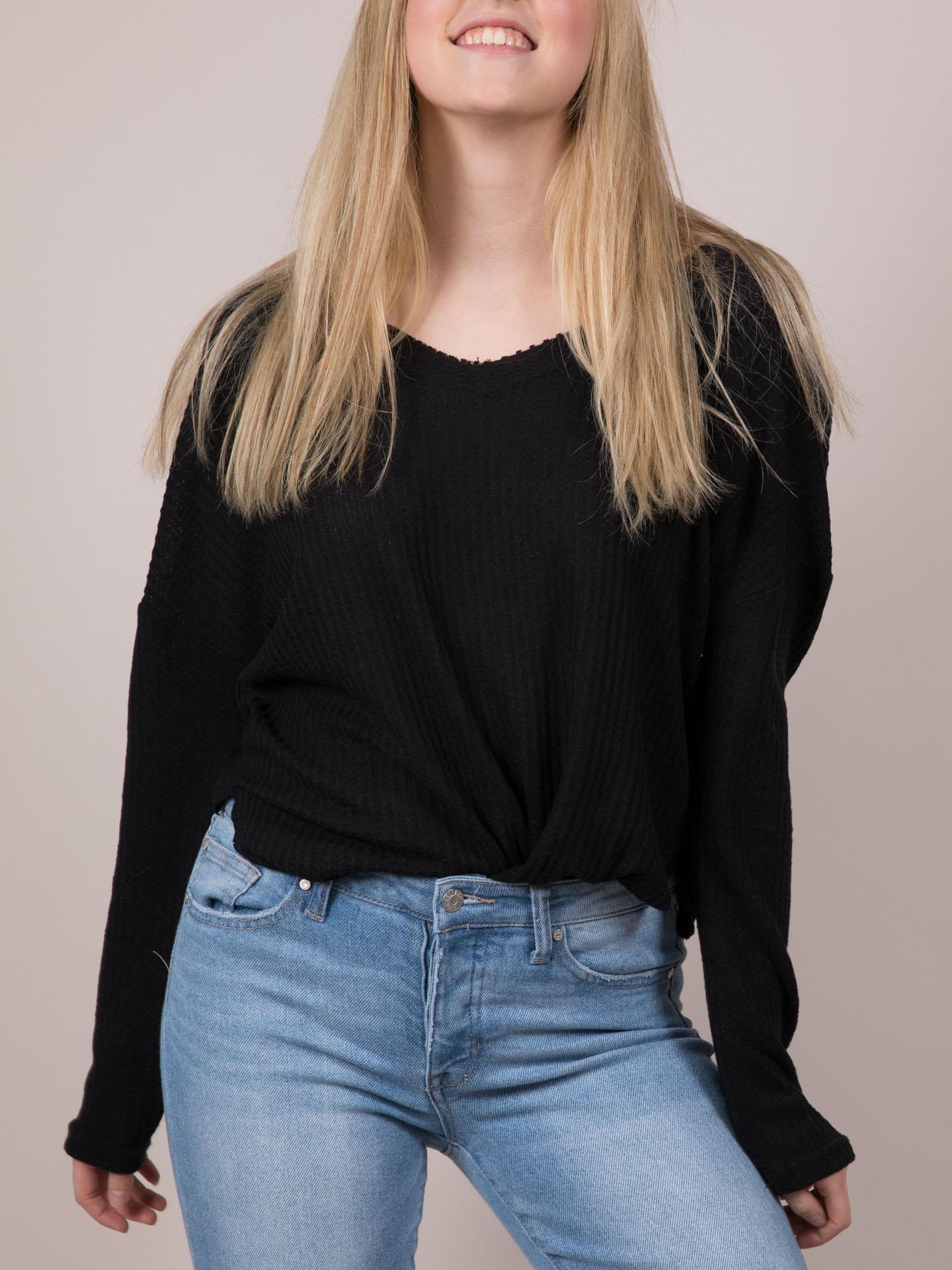 Black Elana Sweater