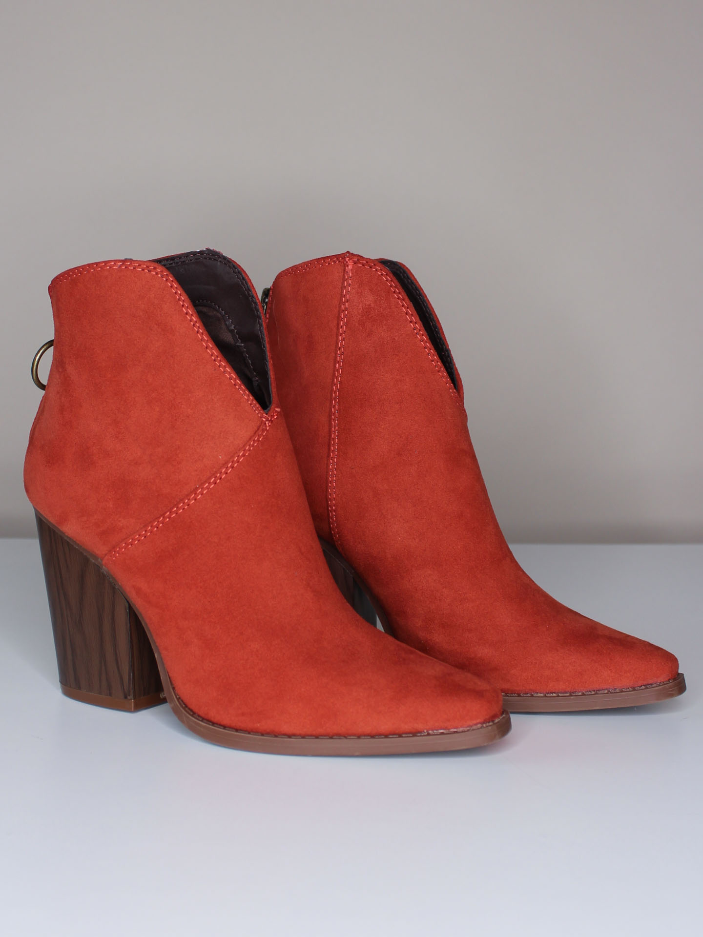 Tina Bootie Rust Colored Fall Booties