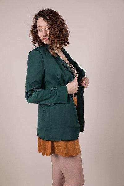 Hunter Jane Blazer - Dark Green Silk LayerJ2230
