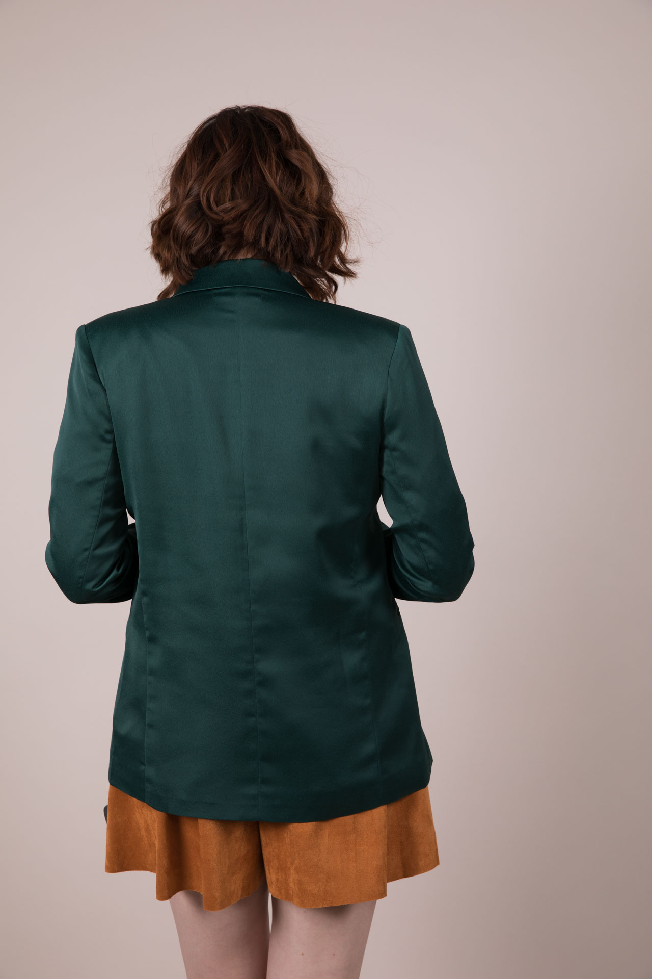 Hunter Jane Blazer - Dark Green Silk LayerJ2230