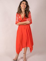 Embroidered Summer Maxi Front Eloise Dress