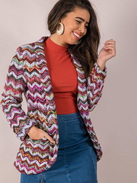 Multi Colored Stitched Layer Blaire Blazer