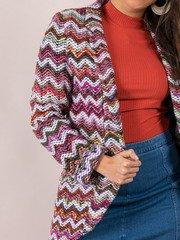 Multi Colored Stitched Layer Blaire Blazer