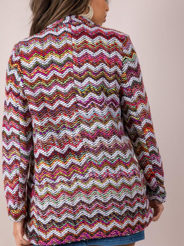 Multi Colored Stitched Layer Blaire Blazer Back
