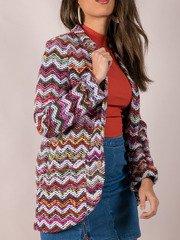 Multi Colored Stitched Layer Blaire Blazer Side