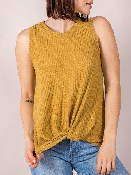 Soft Thick Sleeve Tank Mustard Gwen Tank