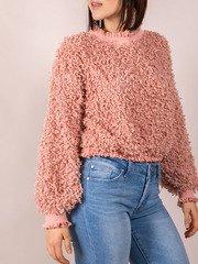 Confetti Popcorn Mock Neck Karea Sweater