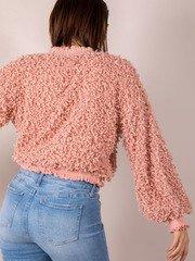 Confetti Popcorn Mock Neck Karea Sweater Back
