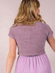 Mushroom Colored Fuzzy Sam Short Sleeve SweaterSam Short Sleeve Sweater Back
