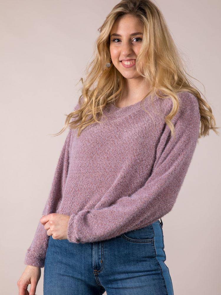 Miriam Mockneck Sweater Trendy Crop