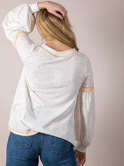 Claudia Confetti Top Relaxed Spotted Bell Sleeve Back