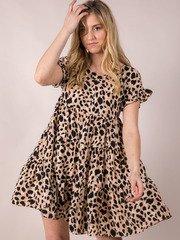 Tiered Spotted Dress Sabrina Leopard Dress