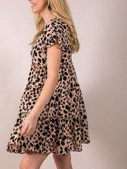 Tiered Spotted Dress Sabrina Leopard Dress Side