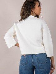 Oversized Fashionista Look Ivory Shauna Structured Sweater