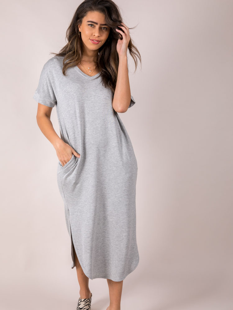 Pocketed Basic Maxi Shoot The Breeze Dress