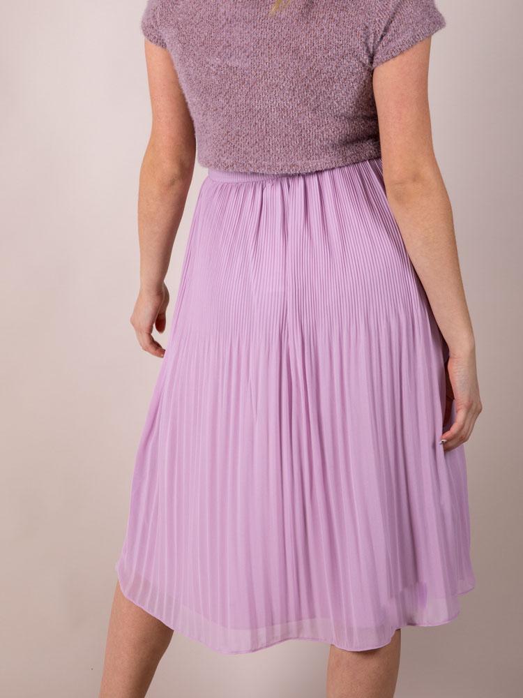 High Rise Purple Midi Violet Skirt Back