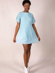 Blue Pleated Dress Adelaide Dress