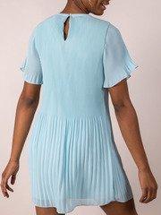 Blue Pleated Dress  BackAdelaide Dress