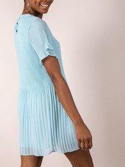 Blue Pleated Dress  Side Adelaide Dress