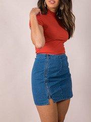 Denim Zip Bottoms Nola Skirt