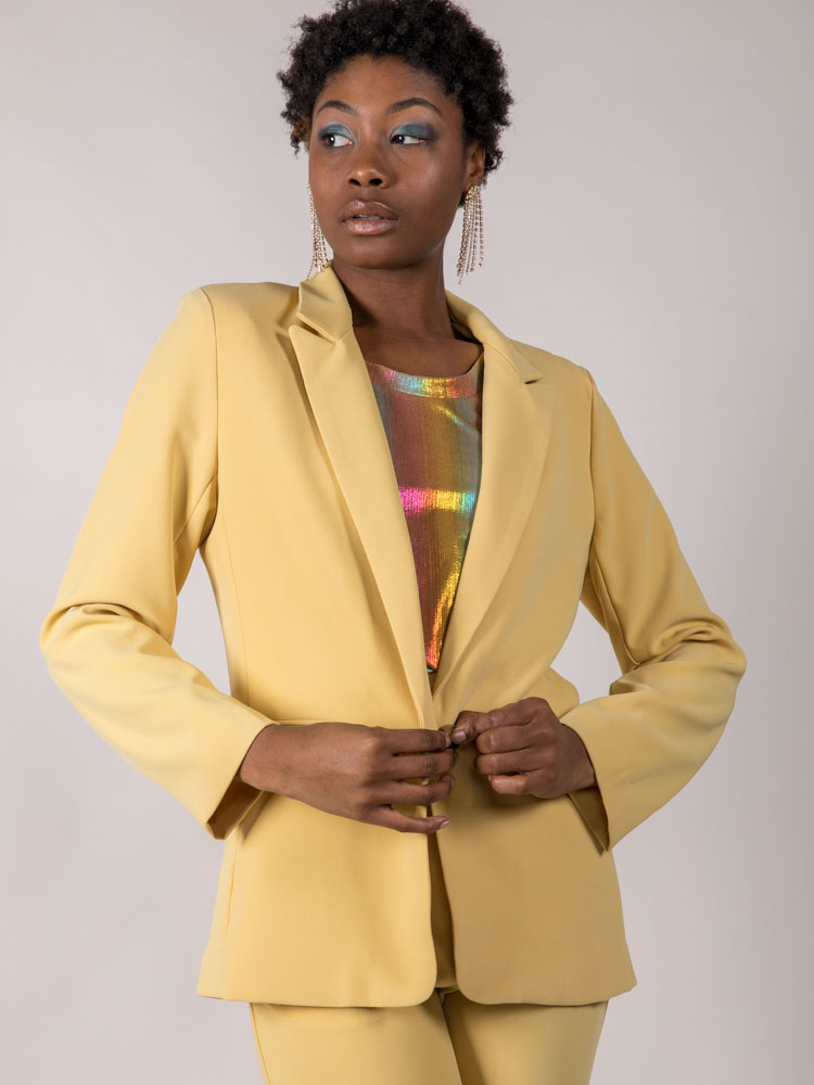 Bright Colored Jacket Mustard Holland Blazer