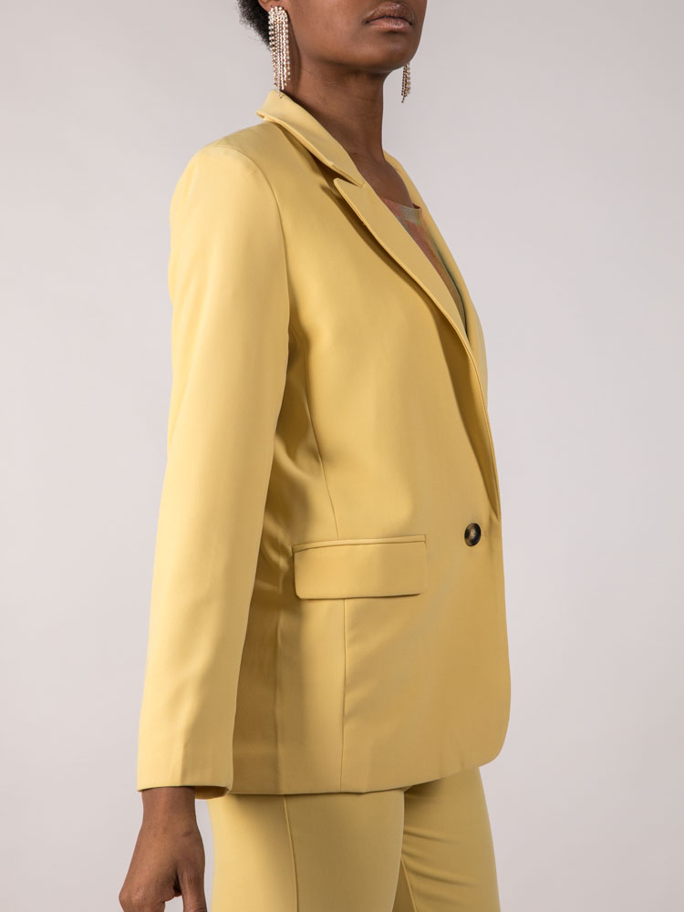 Bright Colored Jacket Mustard Holland Blazer