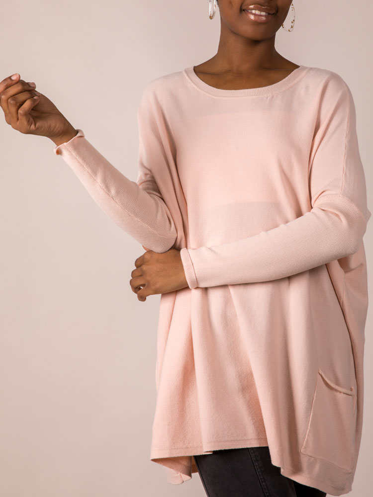 Hit The Road Sweater Dusty Pink