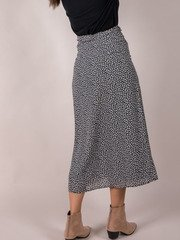Rylan Floral Skirt Tie Waist Midi Back