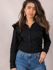 Ruffle Business Casual Top Raquel Blouse Front