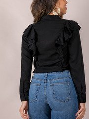 Ruffle Business Casual Top Back Raquel Blouse