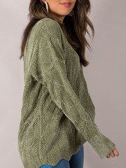 Drenna Oversized Sweater Green Side