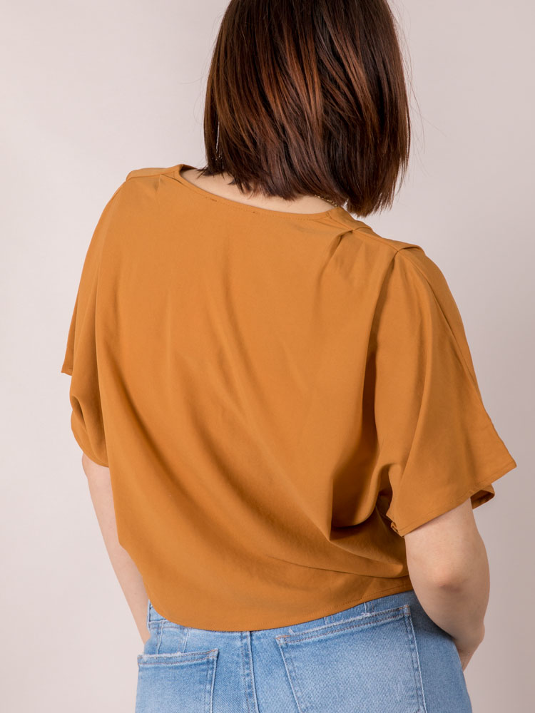 Button Front Casual Crop Jesse Top