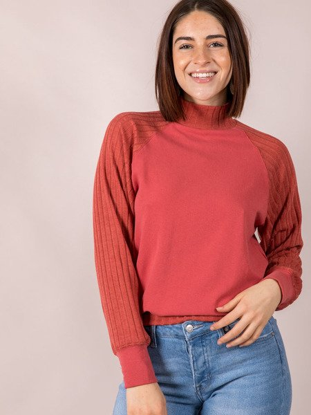 Red Ochre High Neck Carmen Turtleneck