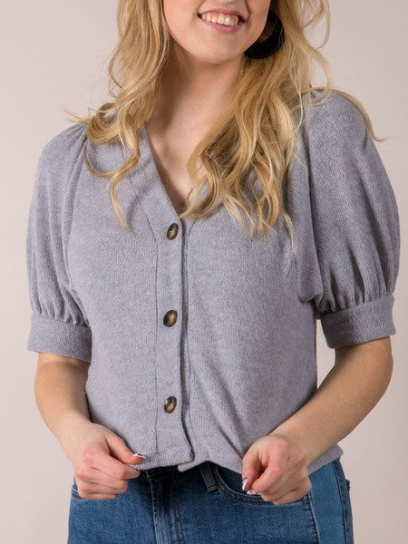 Keller Top Short Sleeve Sweater Cardi Front