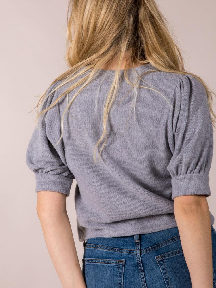 Keller Top Short Sleeve Sweater Cardi Back