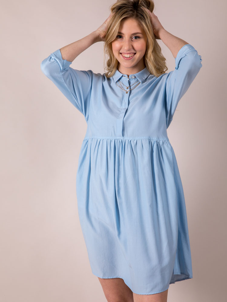 Bae Blue Dress Button Up Baby Doll  Front