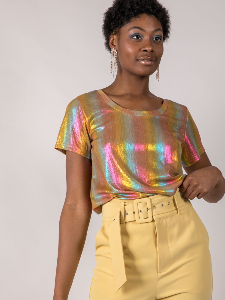 Shine On Top Color Retro Tee