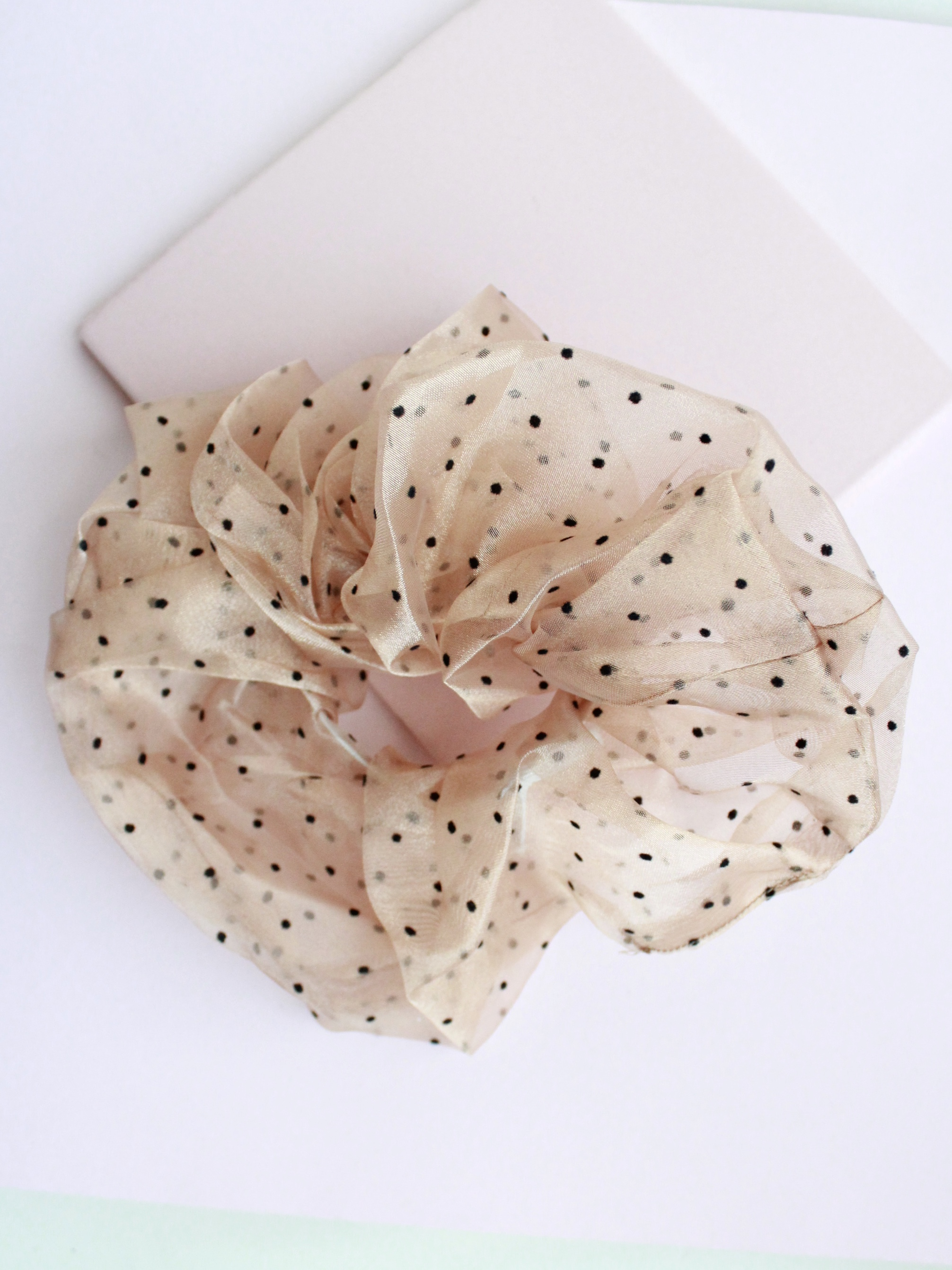 Sequin Polka Dot Scrunchies