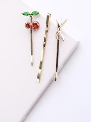 Cherry Gold Bobby Pins