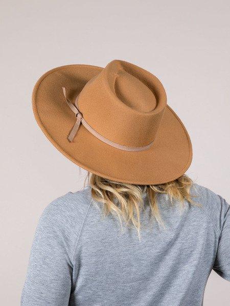Khaki Flat Brim Gretchen Hat
