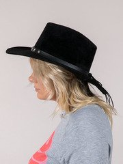 leather star studded band Margo Hat