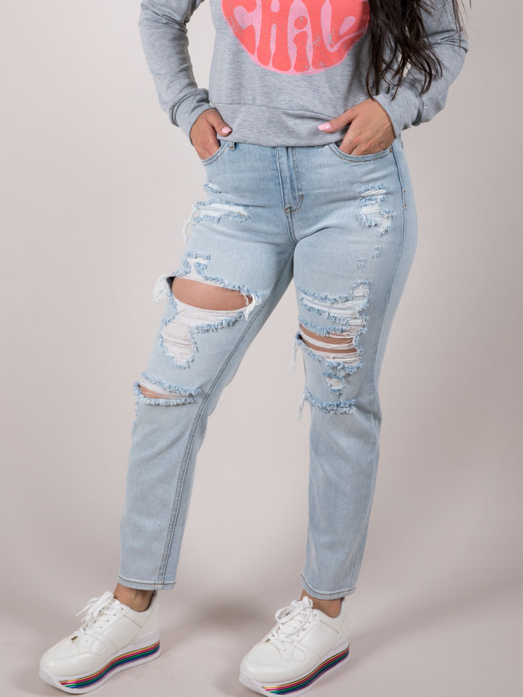 Eleven Relaxed Jeans Hi-rise Relaxed Rip