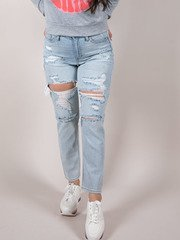 Eleven Relaxed Jeans Hi-rise Relaxed Rip Front