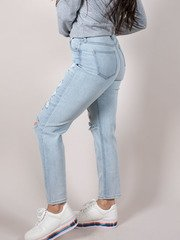 Eleven Relaxed Jeans Hi-rise Relaxed Rip Side
