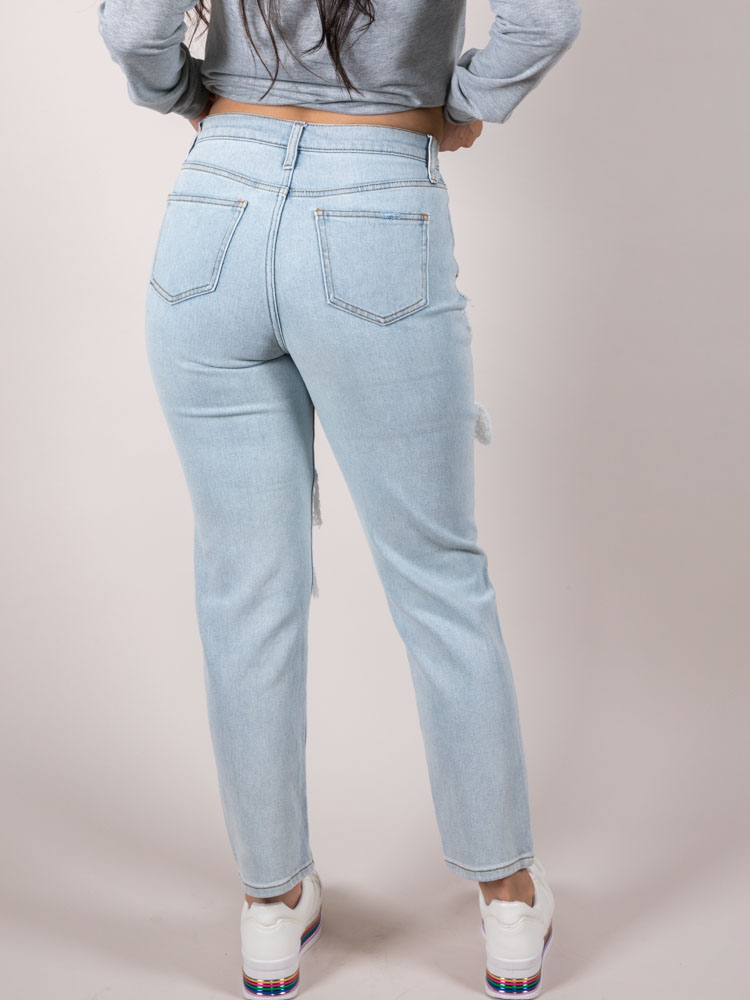 Eleven Relaxed Jeans Hi-rise Relaxed Rip Back