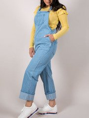 Alandra Overalls Relaxed Fit Denim Piece Side