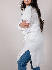 Katie Long Cardigan White Fuzzy Cardigan