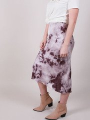 Suzuko Dye Skirt Tie Dye Purple Bodycon Midi Side