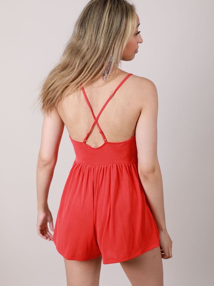 Ablaze Romper Lightweight Red One Piece
